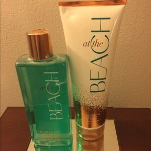 Bath and Body lotion and shower gel